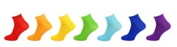 Cotton socks, all colors, colorful collection of socks, rainbow, all colors of the rainbow,sock isolate