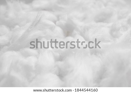 Cotton soft fiber texture background, white fluffy natural material Photo stock ©