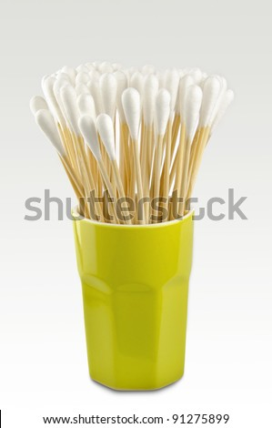 Cotton swabs. Ready for use.