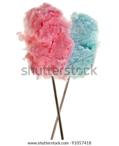 cotton sweet candy  isolated on white
