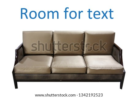 couch. Modern couch isolated on white. room for text.  #1342192523