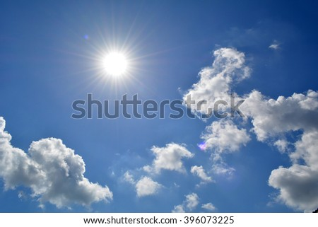 Could and sky background  - Shutterstock ID 396073225