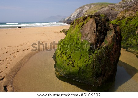 Coumeenole beach on Slea head on the Dingle peninsula in County Kerry in Munster province Republic of Ireland Europe