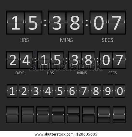 Countdown Timer and Scoreboard Numbers