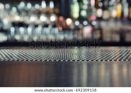 Counter bar with glass background in dark tone #692309158
