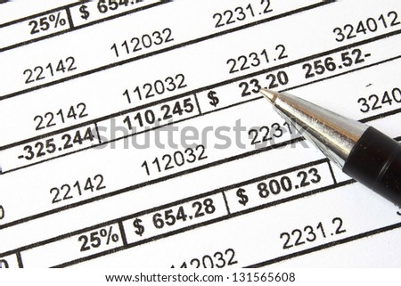 Counting and finance concept
