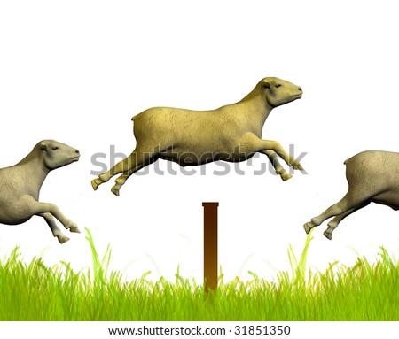Counting jumping sheep