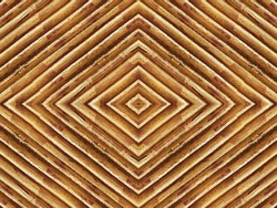 country decorative wall panel, abstract centered lines geometric pattern with antique golden yellow brown finish