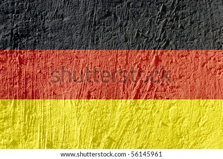 Country flag on a grungy spotted surface