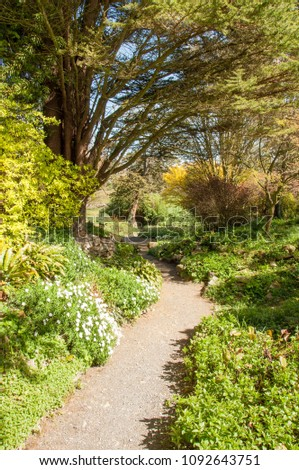 Country garden in Worcestershire, United Kingdom.