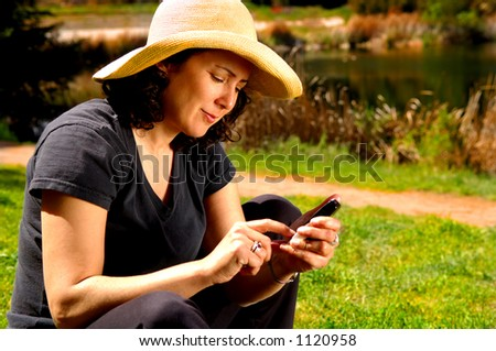 Country Girl On Phone