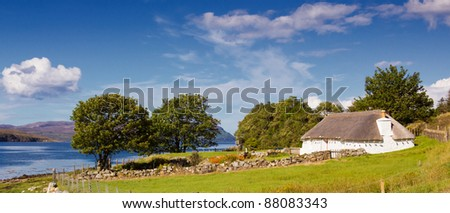 country house in the Highlands, Scotland, UK
