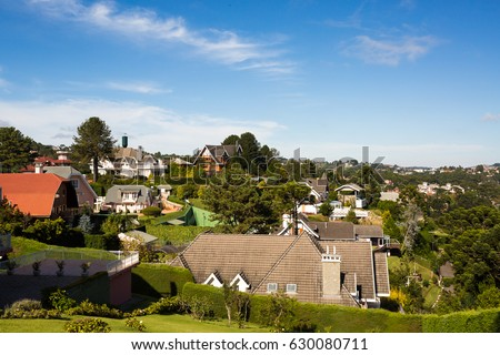 Shutterstock Country houses in Campos do Jordao, Sao Paulo, Brazil.