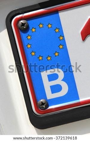 country identifier of EU car registration plate: Belgium
