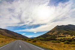 country road and sky in Newzealand