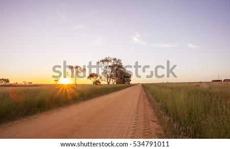 Country Road at Sunset #534791011