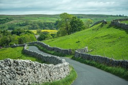country road at Yorkshire Dales, England, UK