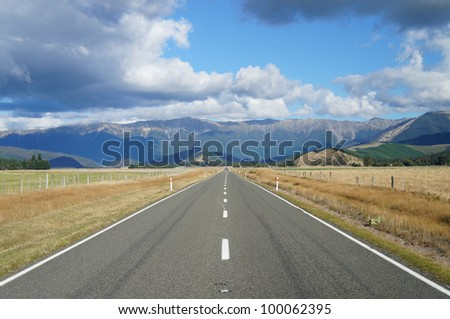 Country Road - Highway 63 in Newzealand