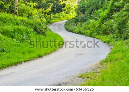 Country Road in Chiangmai thailand