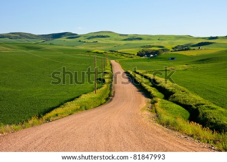 Country road in eastern Idaho