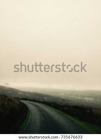 Country road landscape. #735676633