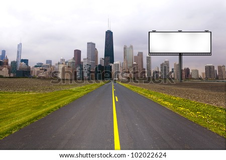 Country Road with Billboard