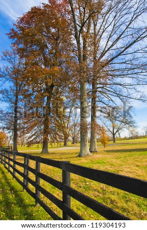 Country scenery on late autumn season.