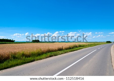 Country side empty road