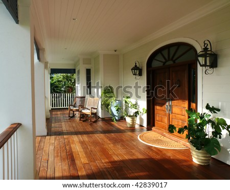 country style porch and furniture