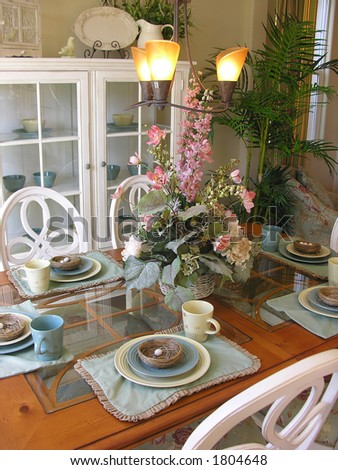 Country styled dining room interior