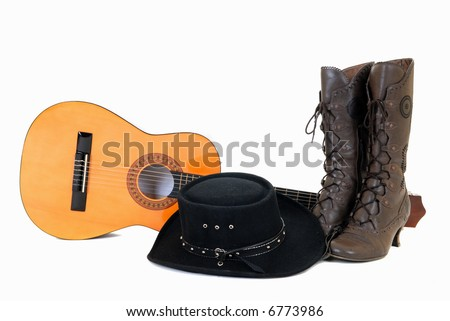 Cowboy Hat And Boots Background Boots And Cowboy Hat