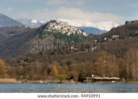 country with Piedilucco lake in Umbria