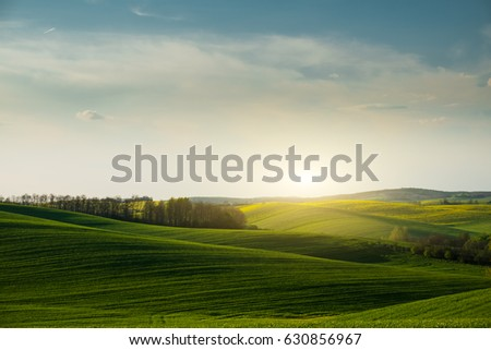 Countryside and green hills landscape #630856967