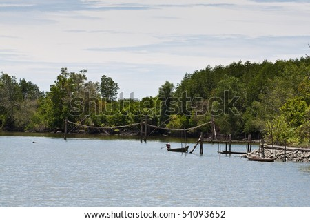 countryside dock thailand