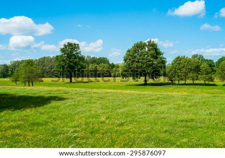 Countryside in spring near Angers, France #295876097