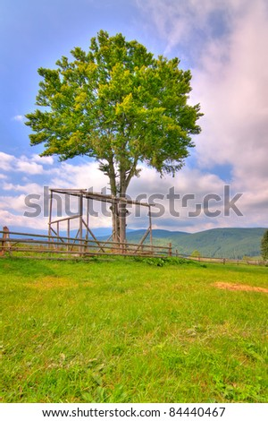 Countryside in the mountains