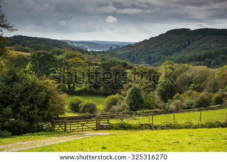 countryside landscape at fall in rural England