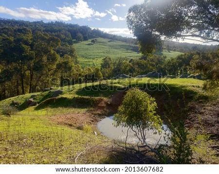 Countryside on the Darling Scarp in Western Australia Foto d'archivio ©