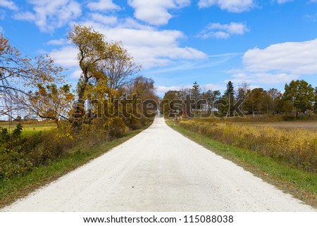 Countryside Road In Sunny September