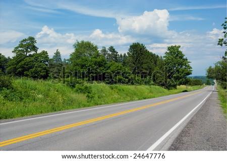 Countryside road. Ontario, Canada