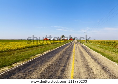 Countryside Road With Blue Sky