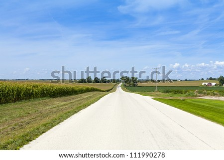 Countryside Road With Cloudy Sky