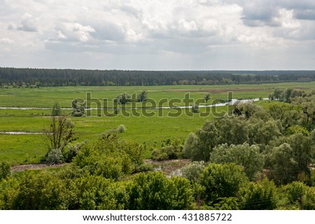 Countryside summer landscape #431885722