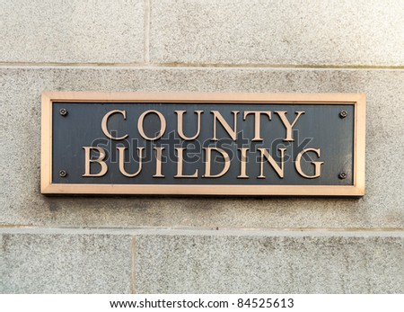 County Building sign