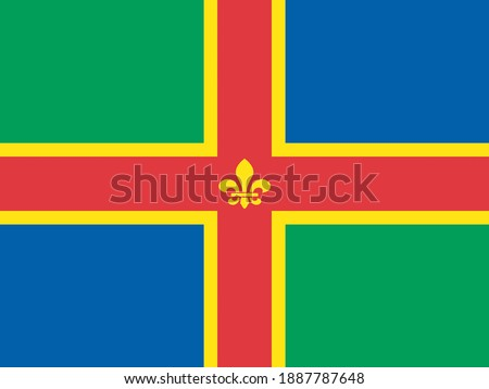 County Flag of Lincolnshire, that represents Lincolnshire, in the UK Stock fotó ©