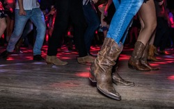 County Line Dancing in motion : boots