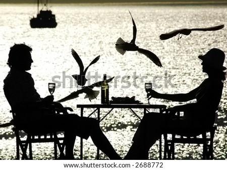 Couple Alfresco dining