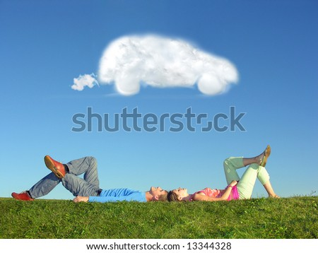 couple and cloud dream car
