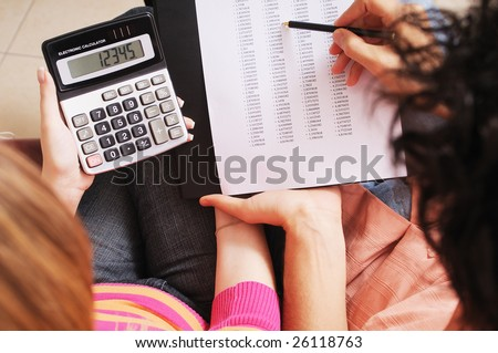 couple and savings, to write and to calculate together