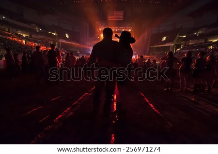 Couple at Country Music Concert